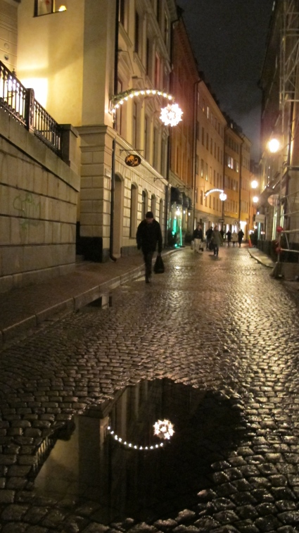 God Jul! Here is a street in Gamla Stan.