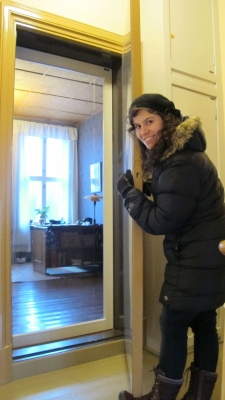 Opening an apartment door to a room from the past!
