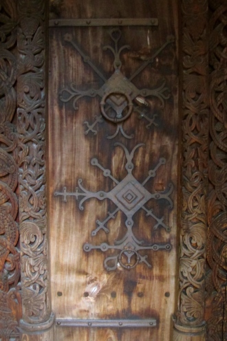 Gol Stave Church Door Detail