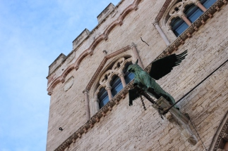 The griffin is Perugia's symbol.