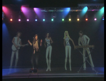 The ABBA Holograms and I! As if I would post the actual video. Yeah right.